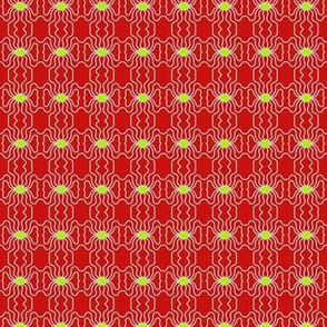 Hearts Flowers Wavy Red Yellow