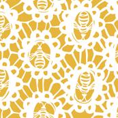 Bee Charmer - Crochet Lace Golden Yellow