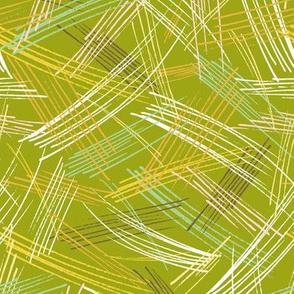 Southern Breeze - Geometric Moss Green
