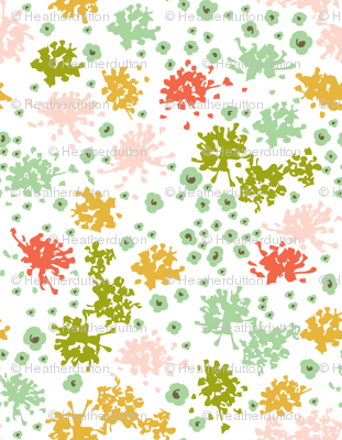 Sweet Tea - Floral Geometric White