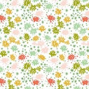 Sweet Tea - Floral Geometric White