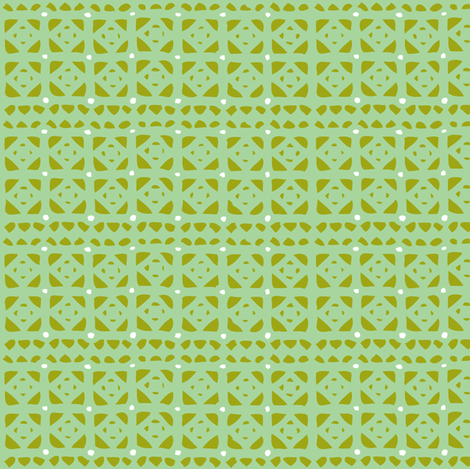 Veranda - Geometric Green fabric by heatherdutton on Spoonflower - custom fabric