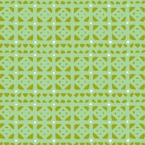 Veranda - Geometric Green