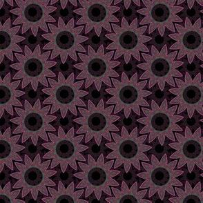 mandala pattern in garnet
