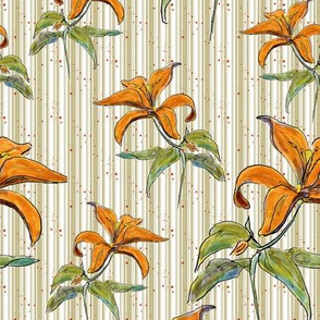 Lilies with Stripes