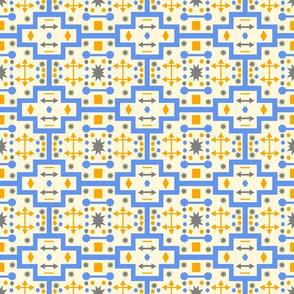 Orange Blue Shapes