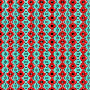 Turquoise Geo Stars