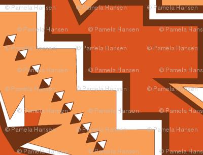 brown geometric stars