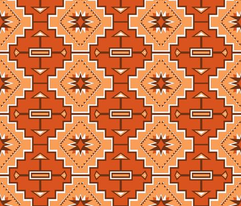 brown geometric stars fabric by pamelachi on Spoonflower - custom fabric