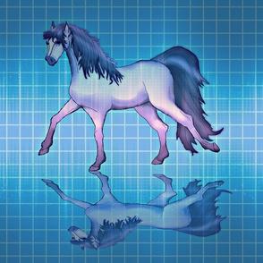 Futuristic Chrome Horse