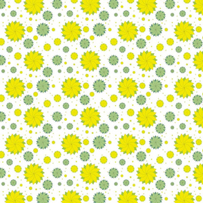 Yellow and Green Floral Medallion