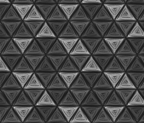 triangles gray fabric by glimmericks on Spoonflower - custom fabric
