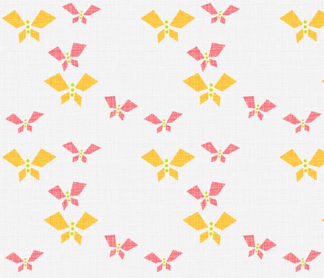 ButterfliesLightCitrus fabric by beckarahn on Spoonflower - custom fabric