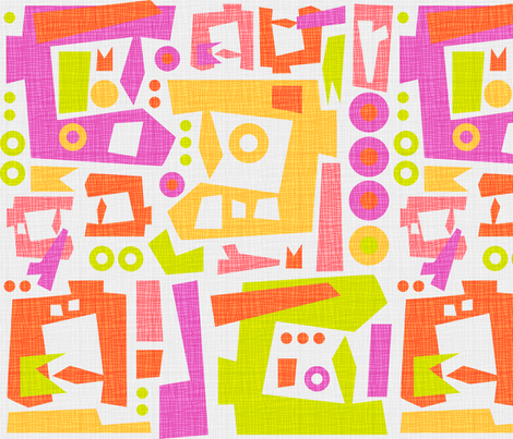 Sewing Abstract Citrus fabric by beckarahn on Spoonflower - custom fabric