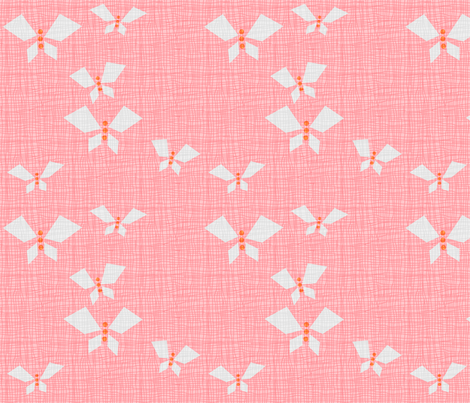 ButterfliesGrapefruit fabric by beckarahn on Spoonflower - custom fabric
