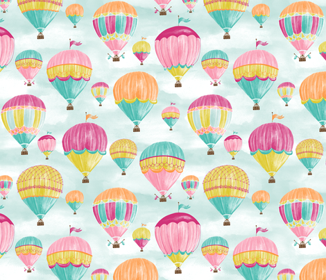 Hot Air Balloons fabric by jillbyers on Spoonflower - custom fabric