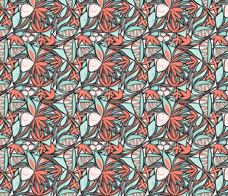 Rfloral_abstract_coral_and_mint_half_size_shop_preview