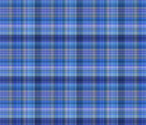 Dark Blue Plaid 2 fabric by gingezel on Spoonflower - custom fabric