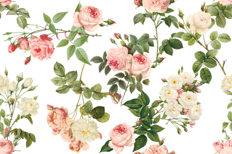 Empress Josephine's Rose Garden fabric by lilyoake on Spoonflower - custom fabric