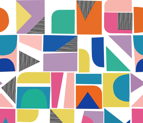 Cubey - kaleidoscope - large scale fabric by elephantandrose on Spoonflower - custom fabric