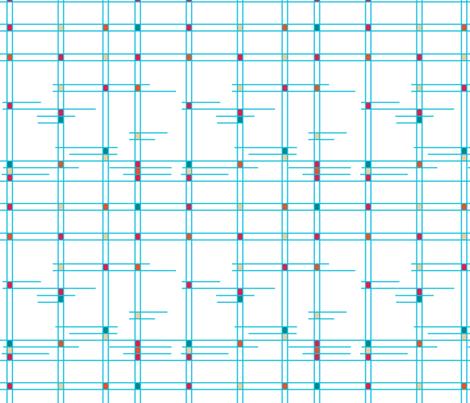 Atomic Plaid - Blue fabric by haleeholland on Spoonflower - custom fabric