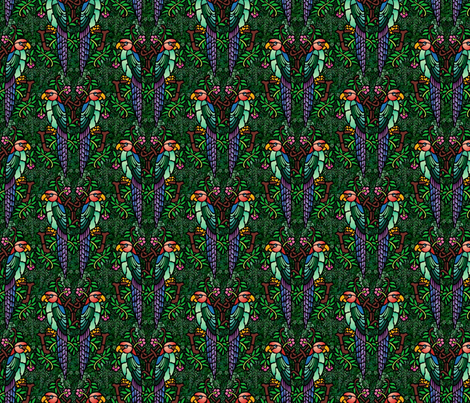 parrots in the jungle fabric by hannafate on Spoonflower - custom fabric