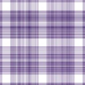 Purple and White Plaid