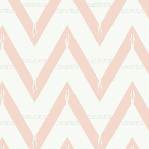 Teepee 2: large, coral and white