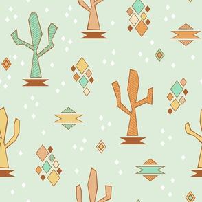 Geometric Cacti (Daybreak)