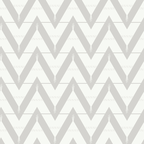Teepee 3: medium, grey and white fabric by lifebymom on Spoonflower - custom fabric