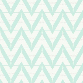 Teepee 3: medium, mint and white