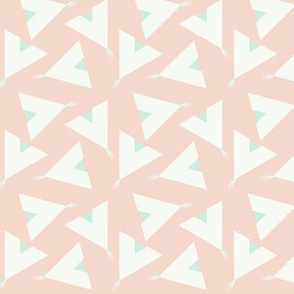 Teepee 5: coral, white and mint