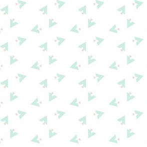 Teepee 6: white, mint and coral