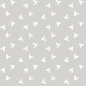 Teepee 6: grey, white and coral