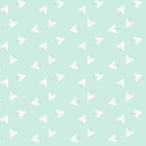 Teepee 6: mint, white and grey
