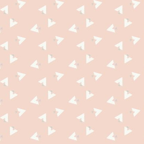 Teepee 6: coral, white and grey