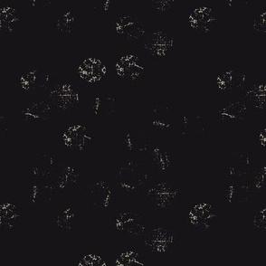 Threadbare Tracery on black