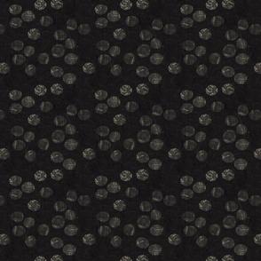 Threadbare spots on darkest grey