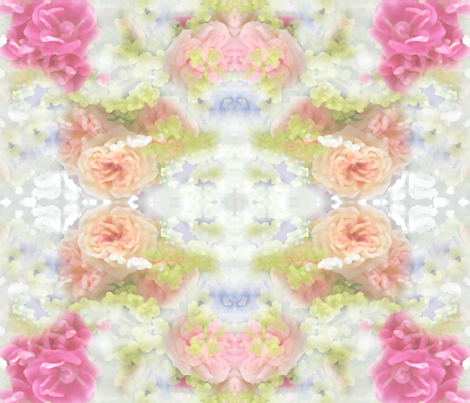 Antique Rose Garden fabric by mypetalpress on Spoonflower - custom fabric