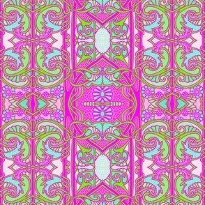 Art Nouveau Pink and Blue (and Green) Dreams