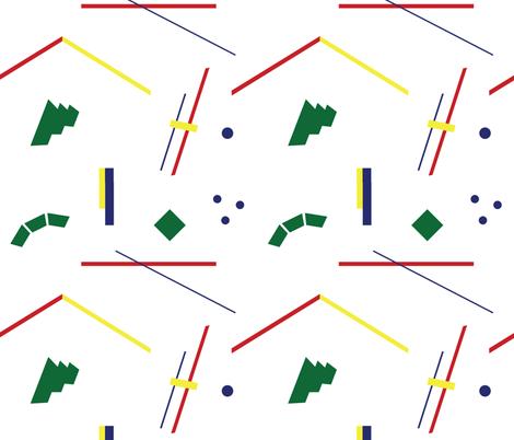 Postmodern Geometry Lesson fabric by elliottdesignfactory on Spoonflower - custom fabric