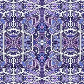 Purple Paisley Flower Squirm