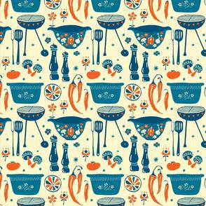 Retro Kitchen Print