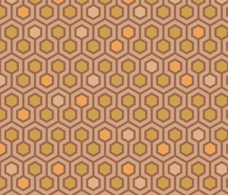 I Love Honey Hive fabric by mariafaithgarcia on Spoonflower - custom fabric