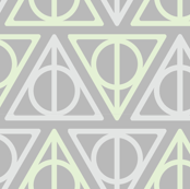 Pastel Potter - Green/Gray Deathly Hallows