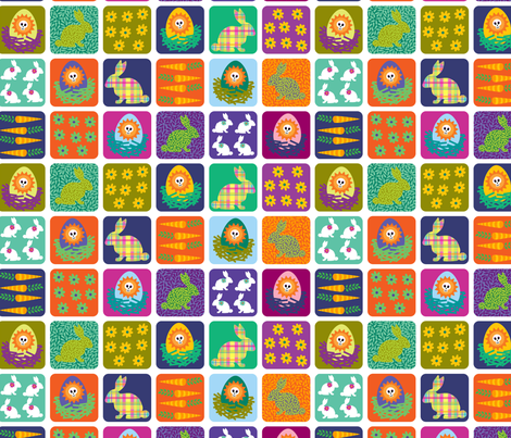 skelly easter eggs fabric by skellychic on Spoonflower - custom fabric