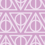Pastel Potter - Purple Deathly Hallows