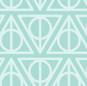Pastel Potter - Teal Deathly Hallows