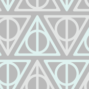 Pastel Potter - Teal/Gray Deathly Hallows