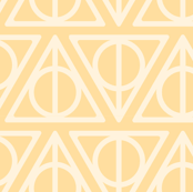Pastel Potter - Yellow Deathly Hallows